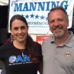 OAMF's Stephanie Stock and State Representative and Health Committee Vice Chair, Don Manning