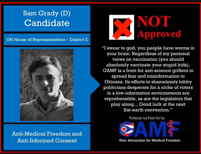 Sam Grady: Not Approved